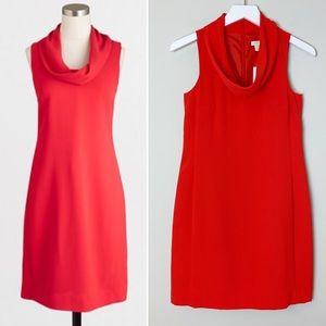 J. CREW Jaime Red Cowl Neck Sleeveless Dress XXS